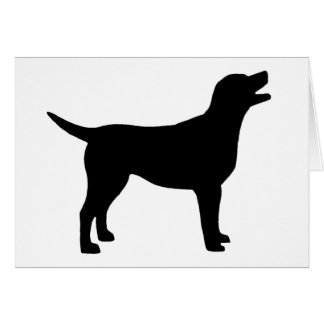 Labrador Retriever (in black) Greeting Cards