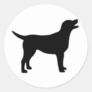 Labrador Retriever in black Sticker