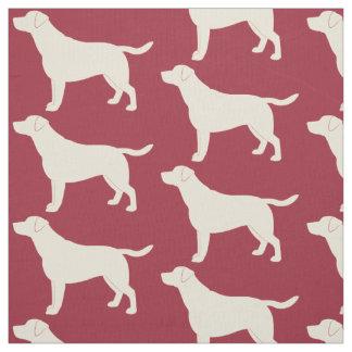Labrador Retriever in Silhouette Fabric