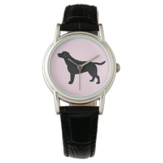 Labrador Retriever in Silhouette Wrist Watches
