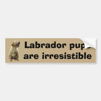 Labrador Retriever Irresistible Bumper Sticker Car Bumper Sticker