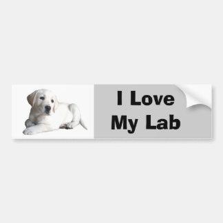 Labrador Retriever Love Bumper Sticker