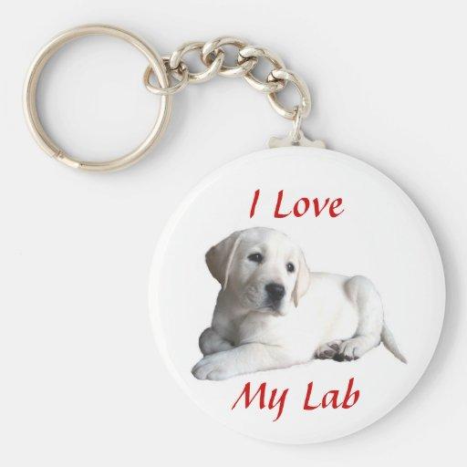 Labrador Retriever Love Keychain
