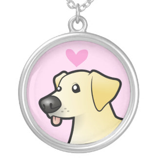 Labrador Retriever Love Silver Plated Necklace