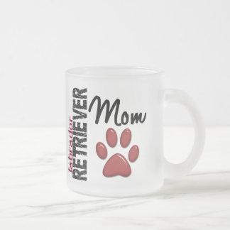 Labrador Retriever Mom 2 10 Oz Frosted Glass Coffee Mug