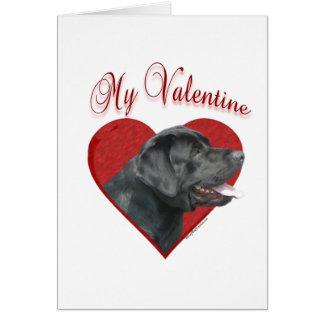 Labrador Retriever My Valentine Greeting Card