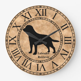 Labrador Retriever on Copper Large Clock