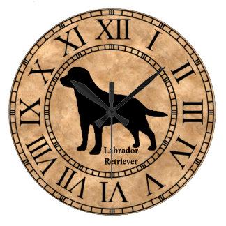 Labrador Retriever on Copper Wallclocks