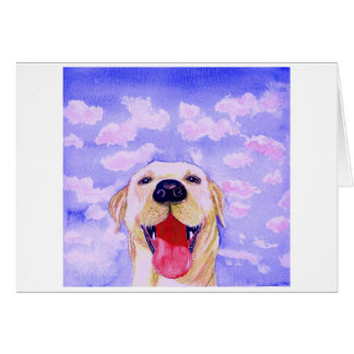 "Labrador Retriever Original Watercolor ""Rut Ro""  Card"