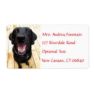 Labrador Retriever Personalized Name Address Label