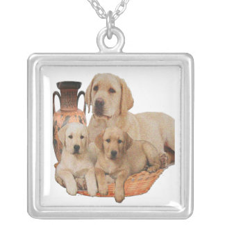 Labrador retriever products silver plated necklace