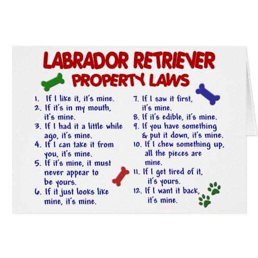 LABRADOR RETRIEVER Property Laws Cards