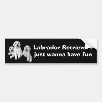 Labrador Retriever Puppies Bumper Sticker
