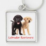 Labrador Retriever Puppies Premium Key Chain