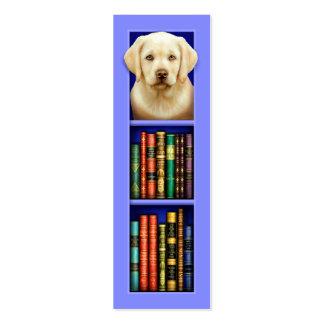 Labrador Retriever Puppy Blue Bookmark Pack Of Skinny Business Cards