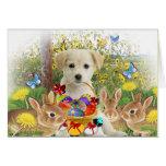 Labrador Retriever Puppy (Easter Egg Hunt) Greeting Cards