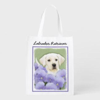 Labrador Retriever Puppy Reusable Grocery Bag