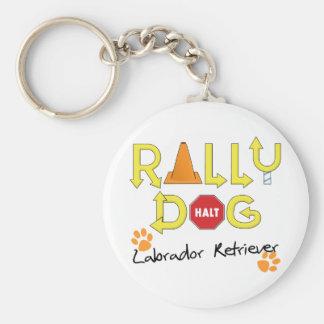 Labrador Retriever Rally Dog Basic Round Button Key Ring