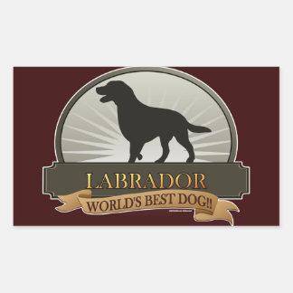 Labrador Retriever Rectangular Sticker
