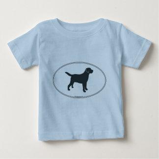 Labrador Retriever Silhouette Baby T-Shirt