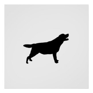 Labrador Retriever Silhouette Love Dogs Poster
