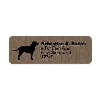 Labrador Retriever Silhouette Return Address Label