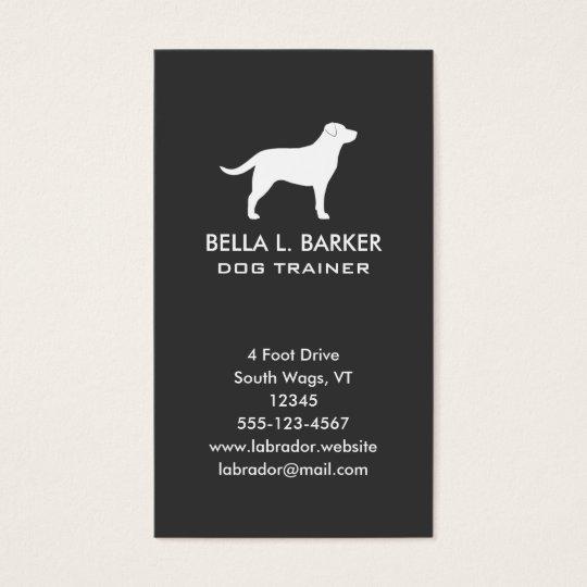 Labrador Retriever Silhouette Vertical Business Card