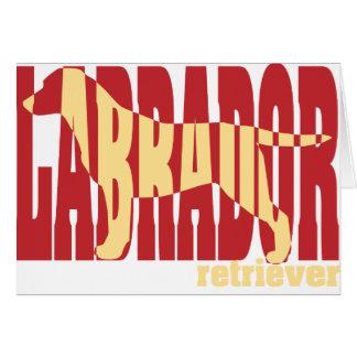 Labrador Retriever silhouette yellow Card
