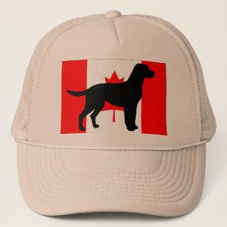 labrador retriever silo Canadian-Flag.png Trucker Hat