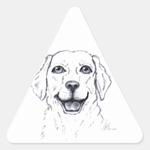 Labrador Retriever Smiling Dog Gifts Sticker