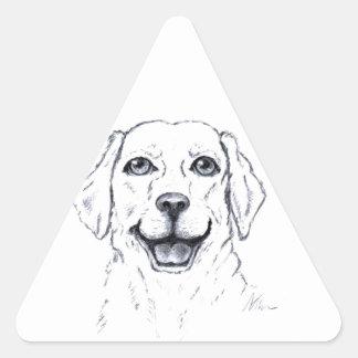 Labrador Retriever Smiling Dog Gifts Triangle Sticker