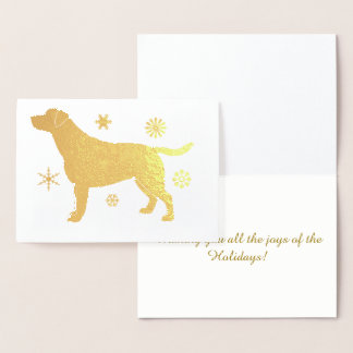 Labrador Retriever Snowflakes in Foil Foil Card