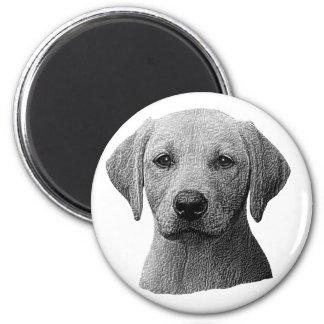 Labrador Retriever - Sylized Image - Add Text 6 Cm Round Magnet