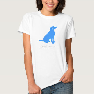 Labrador Retriever T-shirt (blue version 2)