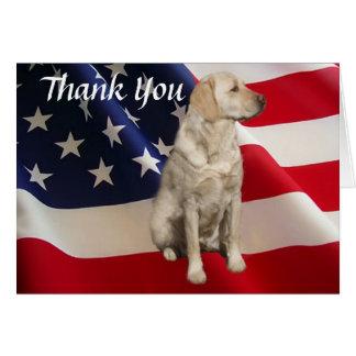 Labrador Retriever Thank You Card America