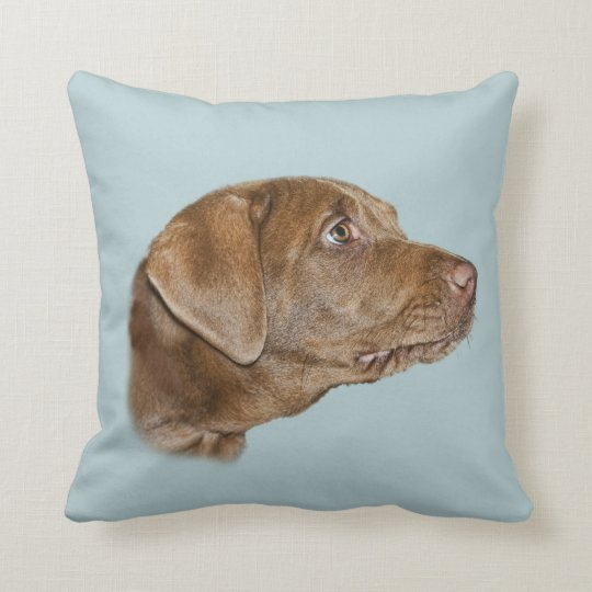 Labrador Retriever Throw Pillow, Customisable Cushion