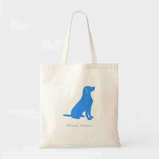 Labrador Retriever Tote Bag (blue version 2)