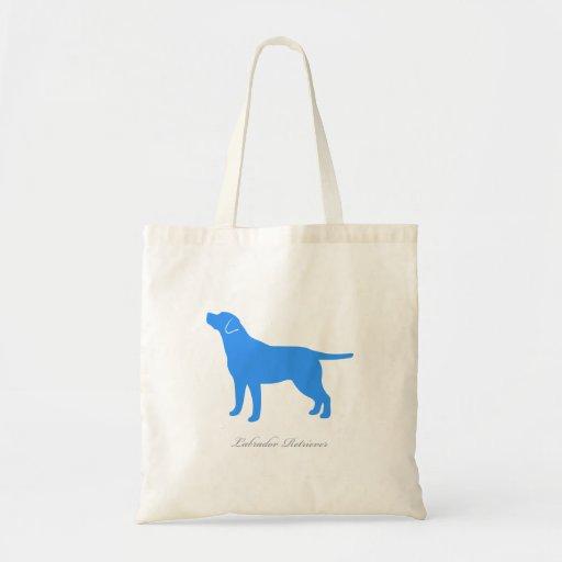 Labrador Retriever Tote Bag (blue version 3)