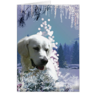 Labrador Retriever Winter Greeting Card