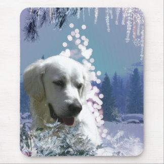 Labrador Retriever Winter Mouse Pad