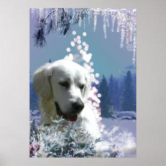 Labrador Retriever Winter Poster