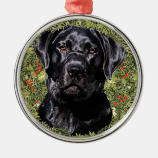 Labrador Retriever Wreath Christmas Ornament