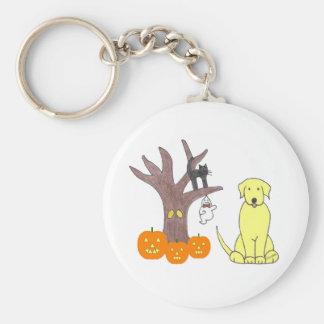 Labrador Retriever Yellow Fall Keychain