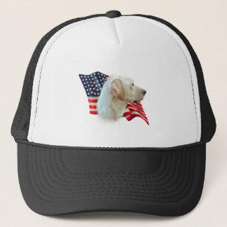 Labrador Retriever (yellow) Flag Trucker Hat