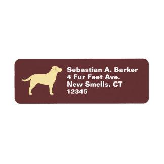 Labrador Retriever (Yellow) Return Address Label