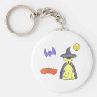 Labrador Retriever Yellow Witch Keychain