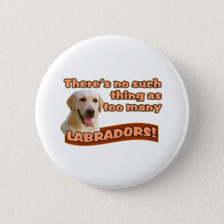 LABRADOR RETRIEVERS 6 CM ROUND BADGE