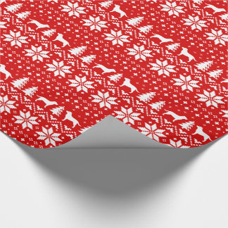Labrador Retrievers Christmas Sweater Pattern Red Wrapping Paper