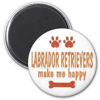 Labrador Retrievers Make Me Happy Refrigerator Magnets