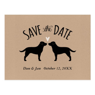Labrador Retrievers Wedding Save the Date Postcard